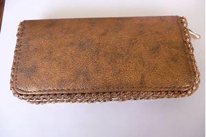 Afbeelding van Bruin kleurige portemonee met ketting rand