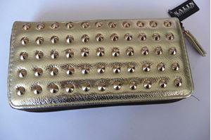 Afbeelding van Gouden portemonnee met studs