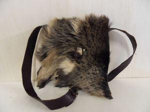Afbeelding van 1 Leren dames tas met zwart grijze huid