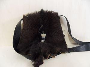 Afbeelding van 1 Leren tas met zwarte huid